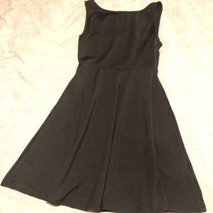 Black Slit Back Cocktail Dress $12